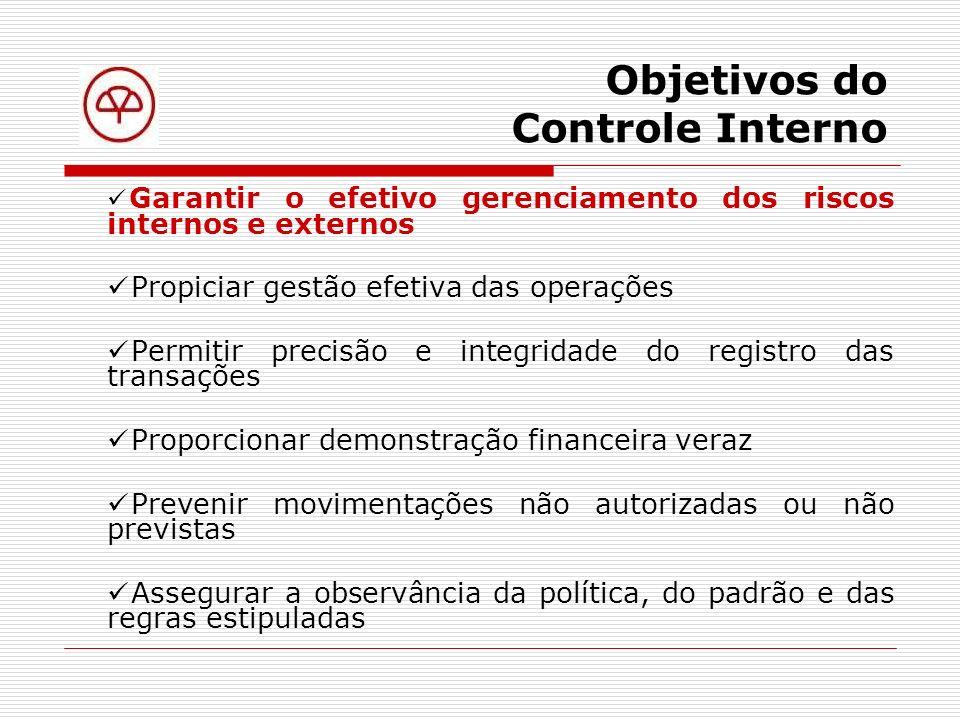 Controle Interno e cada um de nós Uma empresa, como entidade abstrata, por si só, não tem condições de estabelecer um Sistema de Controle Interno.