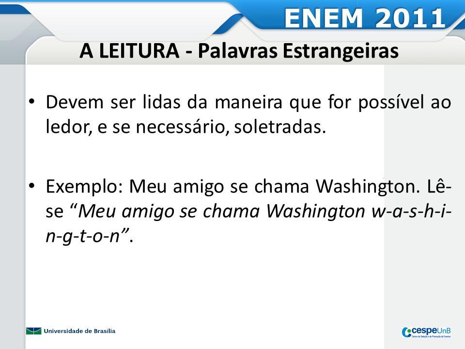 Atividade Prática 10 - Palavras Estrangeiras ENEM 2011