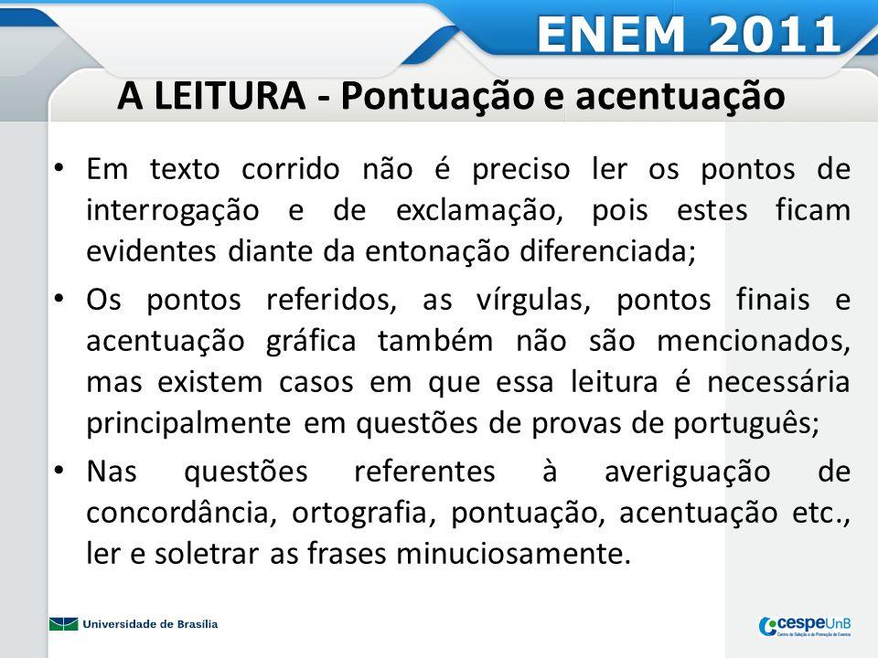 Atividade Prática 12 - Pontuação e acentuação ENEM 2011
