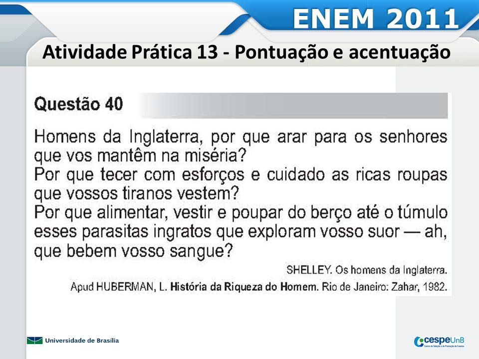 Atividade Prática 14 ENEM 2011