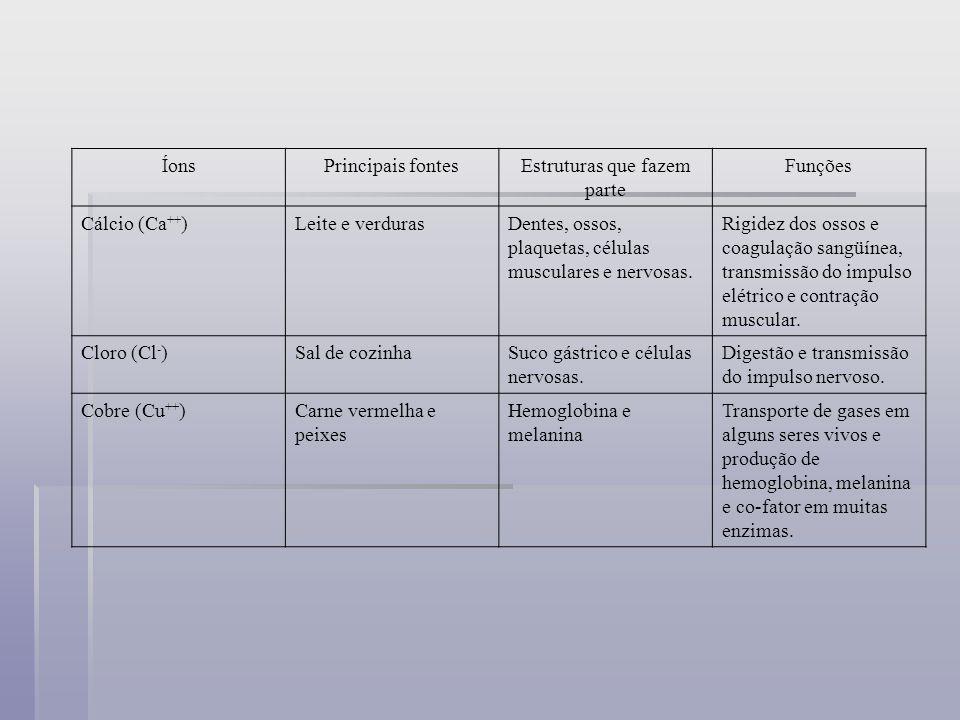 Ferro (Fe ++ )Carne vermelha, ovo (gema) e feijão.