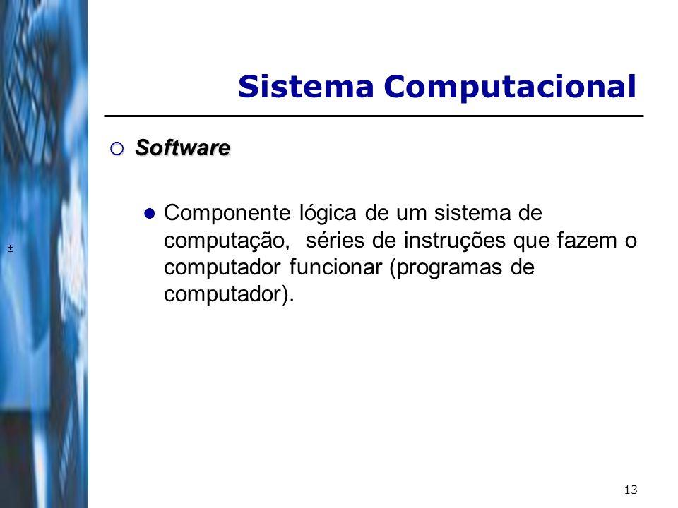 14EntradaProcessamento Armazenamento Saída Computadores atuais Hardware