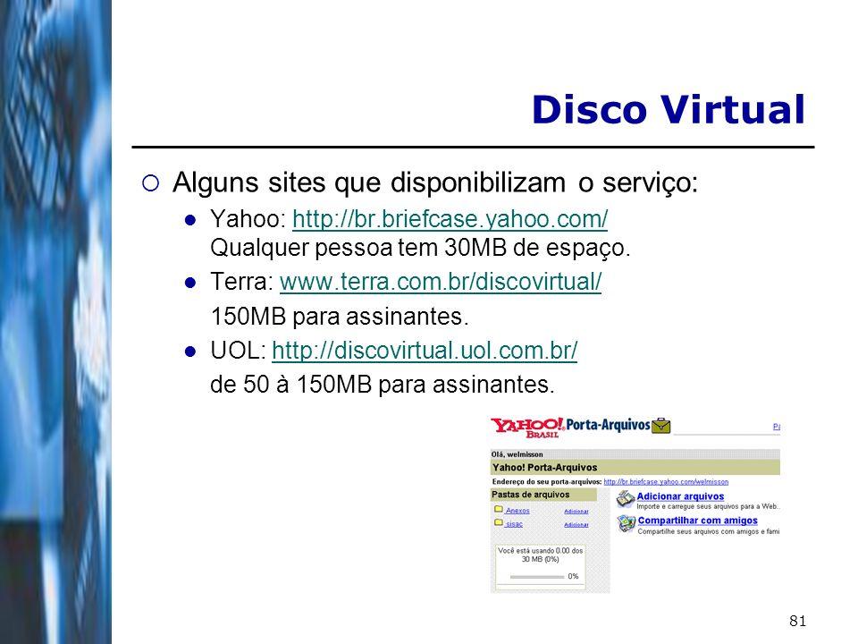82 Outros Sites Compra e venda: - www.americanas.com.br www.americanas.com.br - www.mercadolivre.com.br www.mercadolivre.com.br Diversão/Games: - http://games.terra.com.br/ http://games.terra.com.br/ - http://games.yahoo.com.br/ http://games.yahoo.com.br/