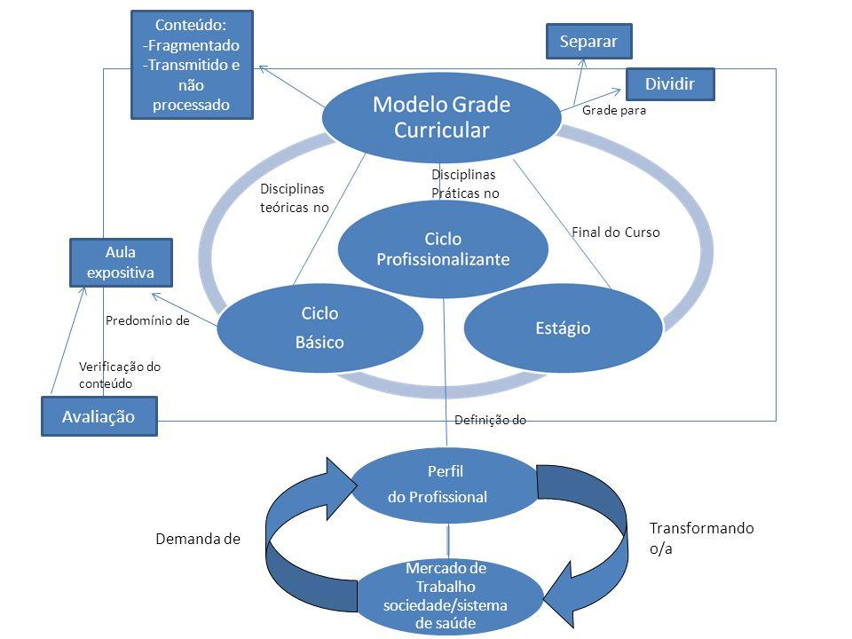 LDBEN 9394/96 Matriz interativa Diretrizes Objetivos e metas Projeto Politico Pedagógico Perfil do Profissional Articulação da Teoria prática Pesquisa como forma de aprendizagem Hábitos de estudo Atividades de extensão Autonomia intelectual e profissional Perfil do profissional Mercado de trabalho /Sociedade/Siste ma de Saúde Construção de Com Organização do Definindo o Foco na Função importante da Desenvolver e sistematizar Valorização das Base para Definindo o Transformando o/a Demanda de Integração entre disciplinas Novas Tecnologias Saberes Atitudes Ser Profissional Procedimentos Saber Fazer Conteúdo Saber Operacionalização Desafio para Matriz integrativa