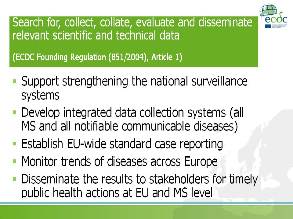 Indicator-based surveillance [vs.Event-based surveillance] Data from health settings, e.g.