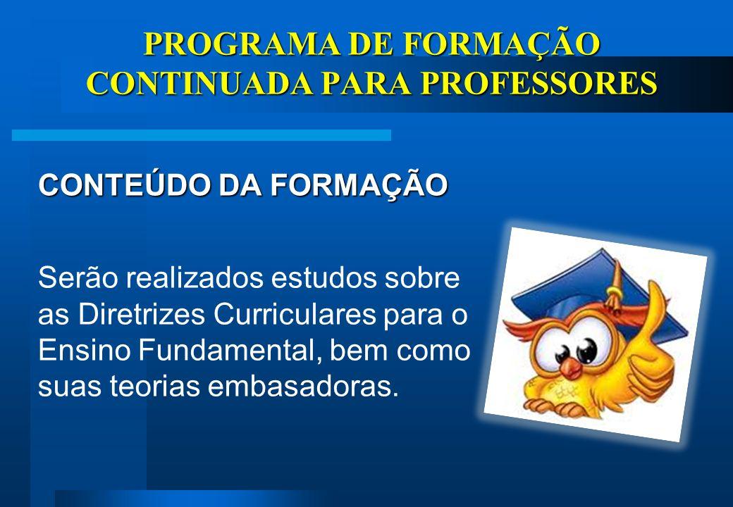 EIXOS EPISTEMOLÓGICO- CONCEITUAIS PRINCÍPIOS ESTRUTURANTES EIXOS REFERENCIAIS EIXOS OPERACIONAIS DIRETRIZES CURRICULARES PROGRAMA DE FORMAÇÃO CONTINUADA PARA PROFESSORES