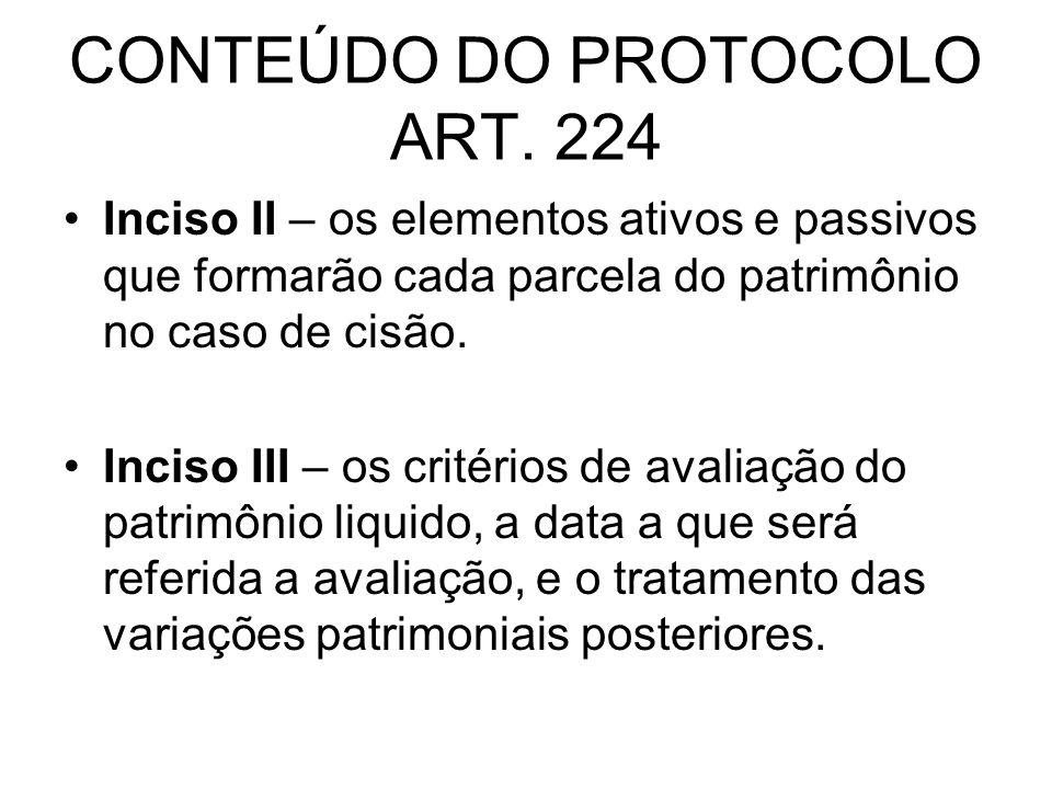 CONTEÚDO DO PROTOCOLO ART.