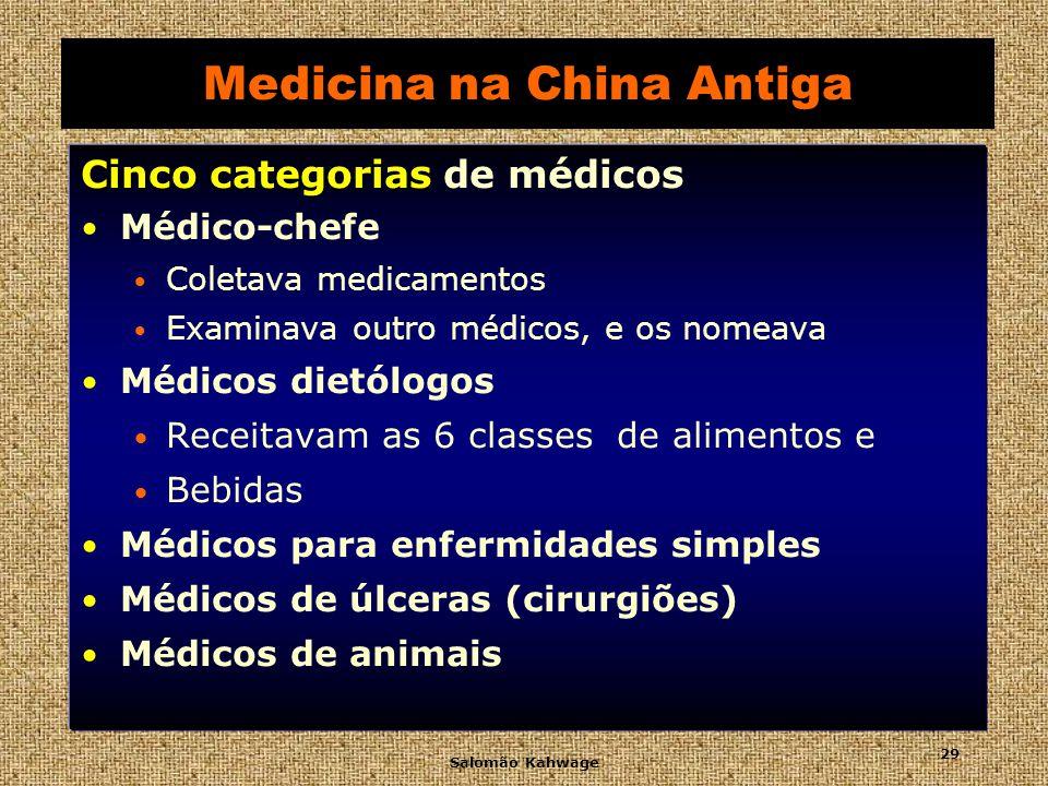 Salomão Kahwage 30 Medicina na China Antiga