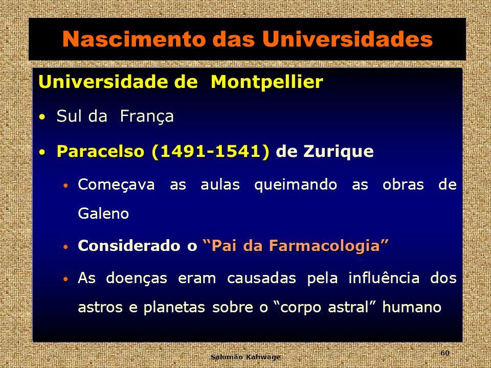 Salomão Kahwage 61 Universidade de Montpellier