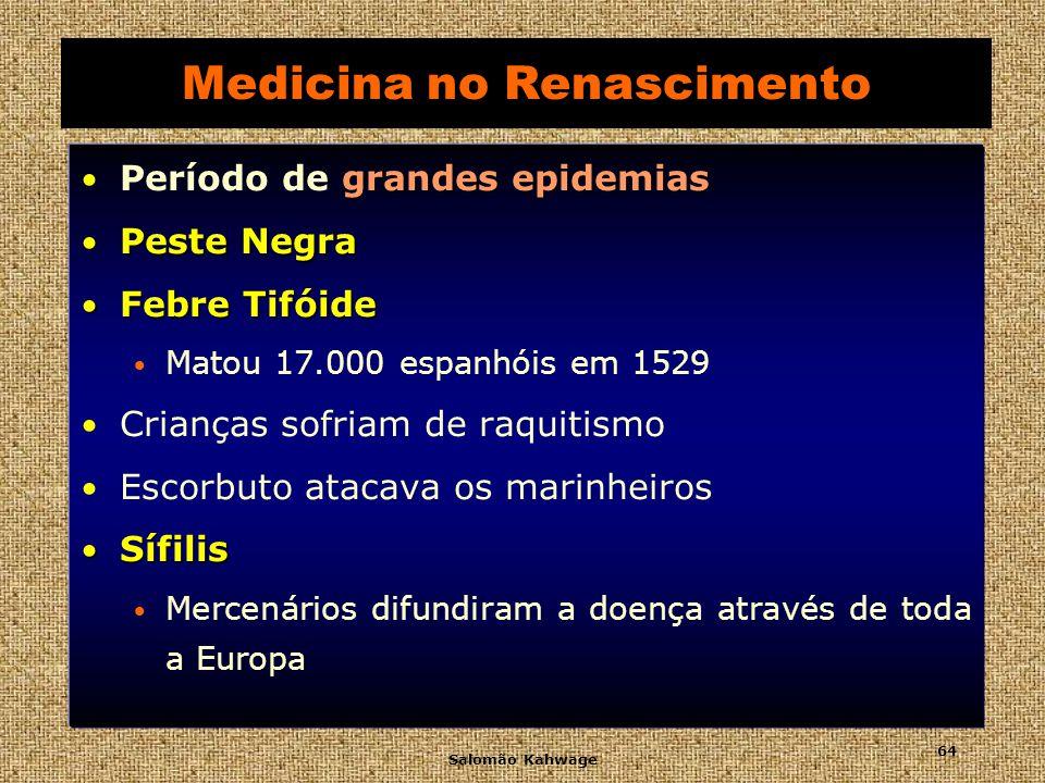 Salomão Kahwage 65 Medicina no Renascimento