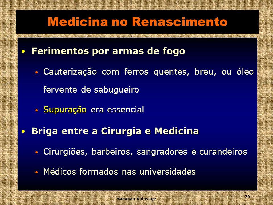 Salomão Kahwage 71 Medicina no Renascimento