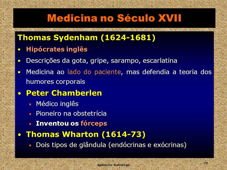 Salomão Kahwage 80 Medicina no Século XVIII