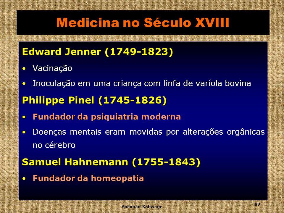 Salomão Kahwage 84 Século XVIII - Edward Jenner
