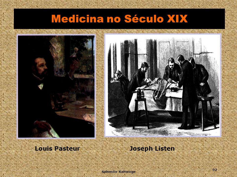 Salomão Kahwage 93 Medicina no Século XIX Robert Koch (1843-1910) Bacilo da tuberculose Bacilo da tuberculose e vibrião da cólera Ivan Pavlov (1849-1936) Reflexos condicionados Wilhelm Conrad Röentgen (1845-1923) raios X Descobridor dos raios X em 1895 Pierre e Marie Curie (1867-1930) rádio Descobriram o rádio Raio-X convencional Sigmund Freud (1856-1939) psiquiatria Reformulação da psiquiatria