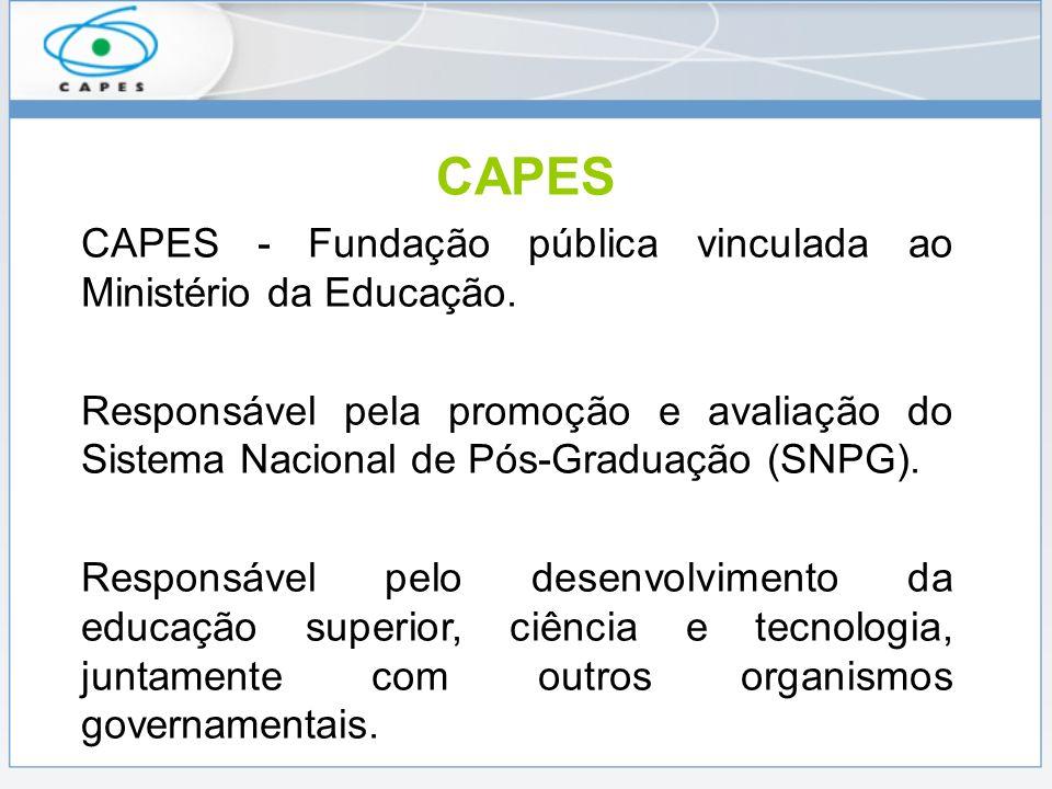 Financia 60% das bolsas de pós-graduação oferecidas pelo Governo Brasileiro, representando 40.000 concessões no Brasil e 4.000 no exterior.