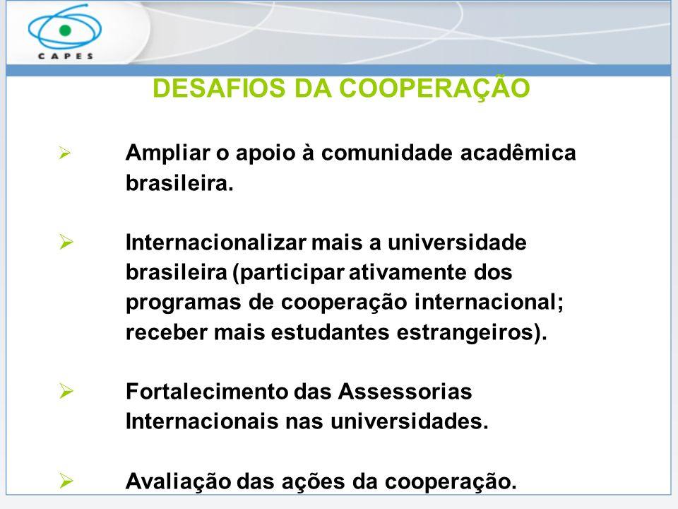 Ações Recentes da CGCI Acordo Índia (financiamento de missões de trabalho e de estudo Pós-doc), Eramus/Mundus, University of Parma, Fórum de Reitores Brasil/Japão, Fórum IBAS, Mercosul/Paraguai, Timor Leste (Edital para selecionar 50 profissionais primeiro semestre), Acordo Venezuela, (assinado, recepção de 2 mil estudantes venezuelanos) Acordo México (SRE e CONACYT) Acordo British Academy (áreas de ciências sociais)