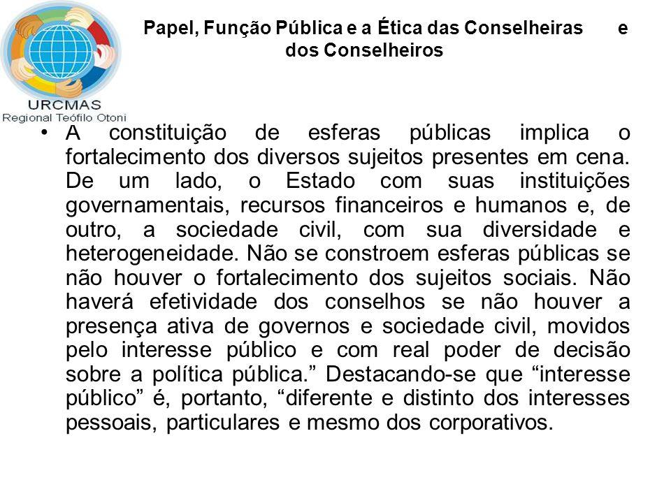 conselhos são mecanismos de participação garantidos na Constituição Federal e na legislação ordinária que os institui.