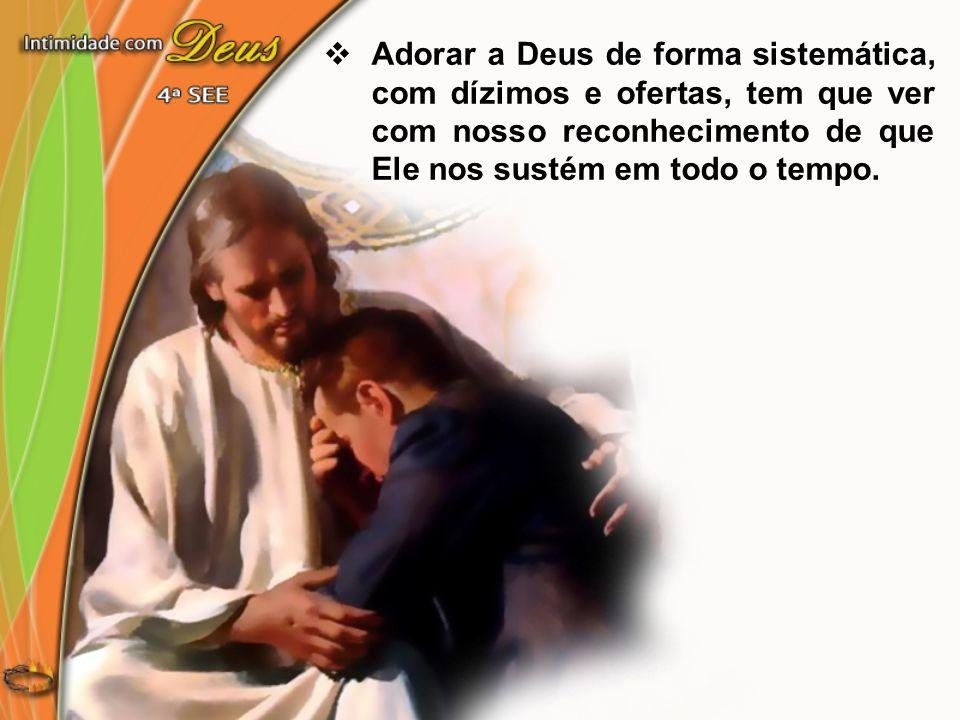 A bênção do Pai é contínua...