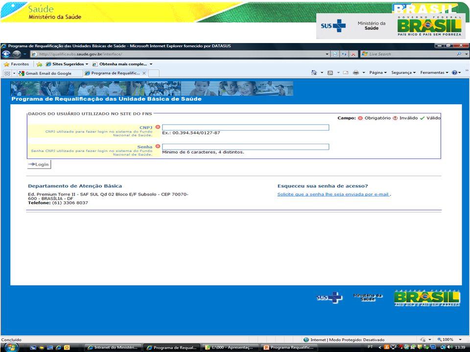- Censo de todas as UBS do Brasil Objetivos oConhecer o grau de inadequação das UBS oIdentificar os tipos de intervenções necessárias Reforma, Reforma/Ampliação ou Substituição oLevantar informações para definir priorização requalificação Estratégia: convênio de cooperação com universidades Federais Meta: 100% das UBS até 2012 47 Diagnóstico Progressivo 30%70% 20112012