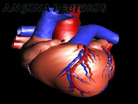 1. 2 Angina Pectoris - is recurring acute chest pain or discomfort resulting from decreased blood supply to the heart muscle(myocardial ischemia). Angina.