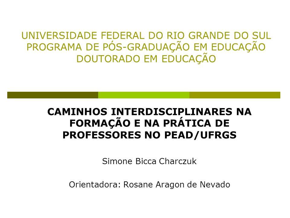 Introdução Inserção no PEAD como tutora e como professora; Reflexões sobre a proposta de ensino e a composição das equipes de trabalho; Diversos profissionais X interdisciplinaridade.