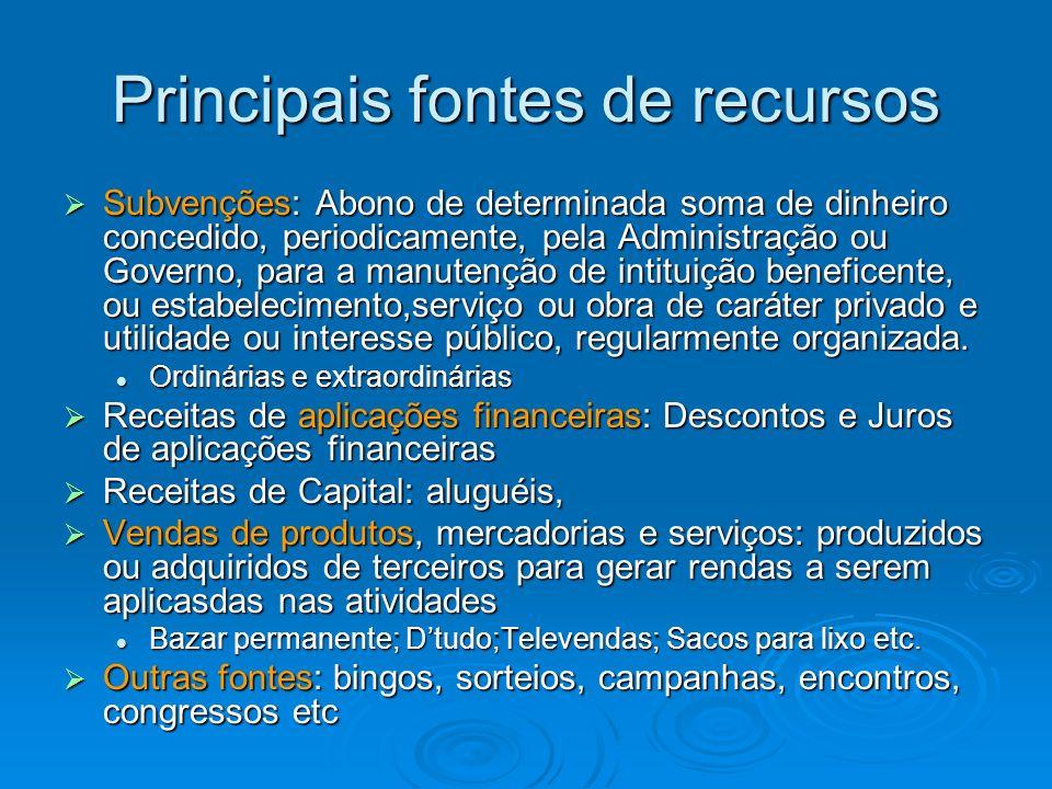 Normas Contábeis Segundo as resoluções do CFC, as OSFL devem observar os Princípios Fundamentais de Contabilidade, bem como as Normas Brasileiras de Contabilidade e Suas Interpretações Técnicas e comunicados Técnicos, editados pelo Conselho Federal de Contabilidade.