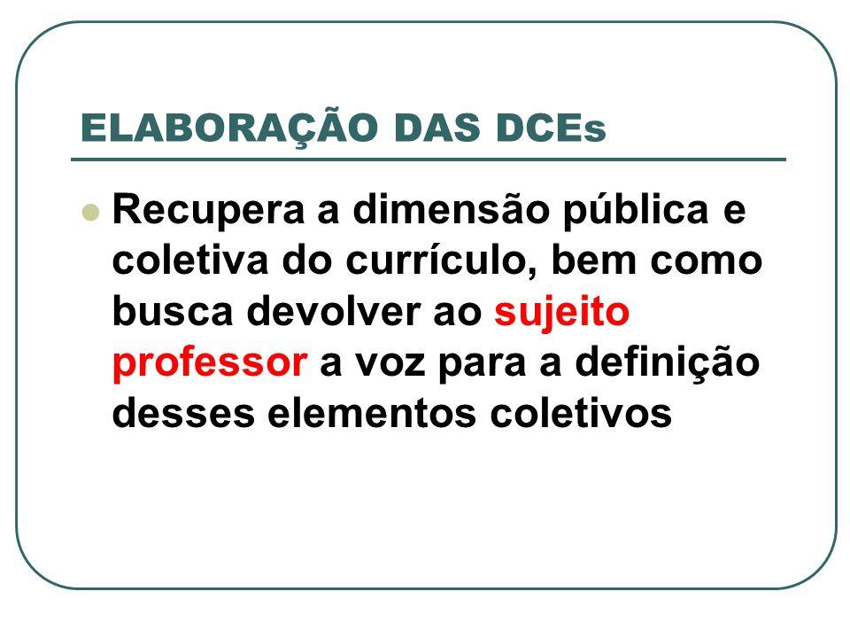 Todas as áreas por disciplina da SEED/PR mobilizaram-se no início de 2004 para constituir um grupo de intermediadores do debate com professores na base.
