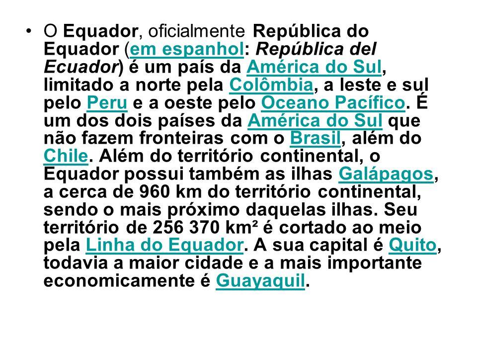 O Equador é uma república presidencialista unitária.