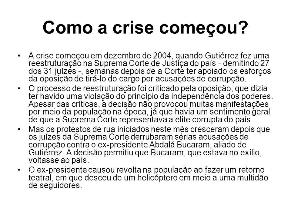 Lucio Gutiérrez já teve um grande apoio popular.