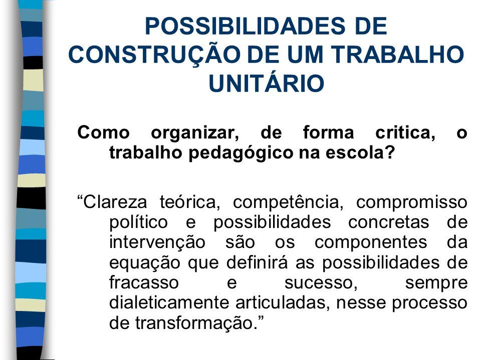 ATIVIDADE PRÁTICA A partir do texto e discussões ocorridas, discuta com os colegas sobre as possibilidades e limites de organização do trabalho pedagógico para a construção de uma sociedade melhor.