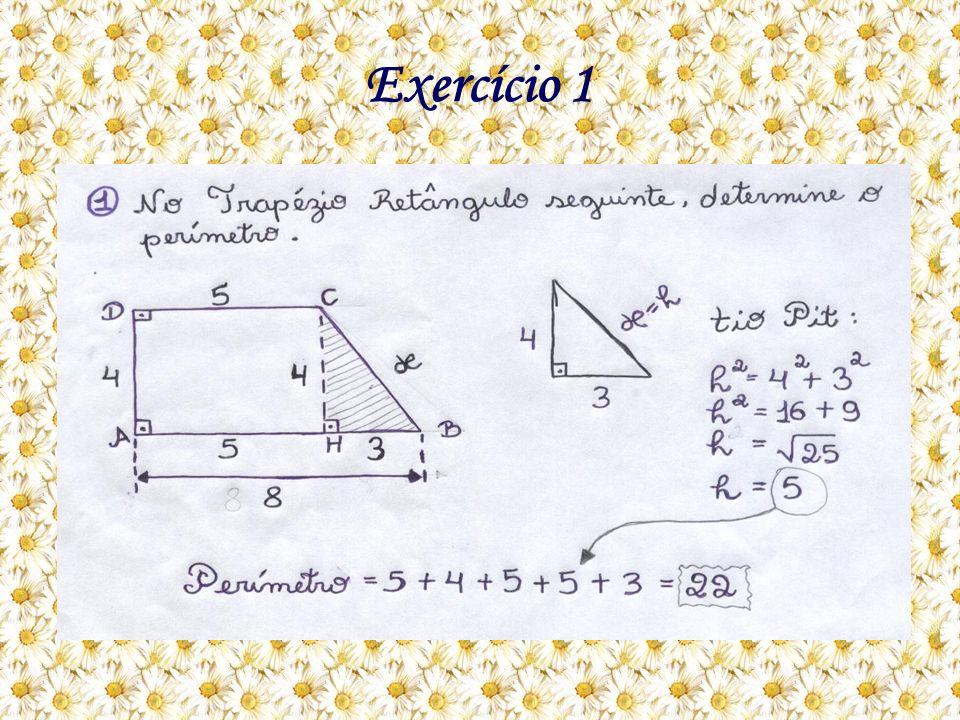 Como eu resolvo: A questão está pedindo o perímetro do Trapézio retângulo, mas para achar o perímetro, tem que achar X, localizado na figura hachurada.