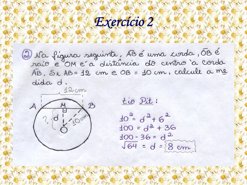 Como eu resolvo: A questão está pedindo para calcular a medida d.