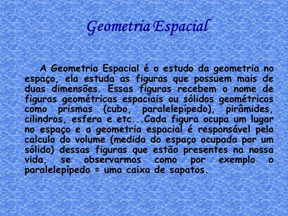 Geometria Espacial: Exercícios do caderno Eu escolhi esses exercícios porque achei super interessante e também porque achei fácil de resolver.