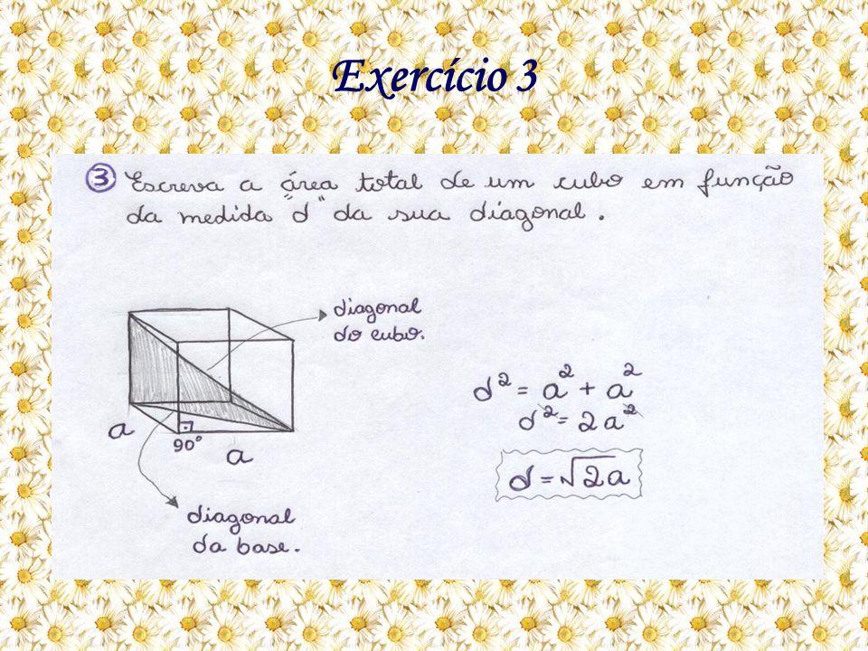 Como eu resolvo: A questão está pedindo a área total em função da medida d da sua diagonal.