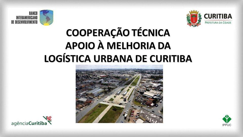 CURITIBA é a oitava cidade mais populosa do Brasil COOPERAÇÃO TÉCNICA APOIO À MELHORIA DA LOGÍSTICA URBANA DE CURITIBA CURITIBA participa com 24,2% do PIB do Estado do Paraná Acolhe importantes empresas comerciais e de serviços (81,99%) e industrial (17,95% ) do PIB total da cidade Com a instalação do pólo automobilístico, a região metropolitana vem experimentando um alto índice de crescimento populacional e econômico