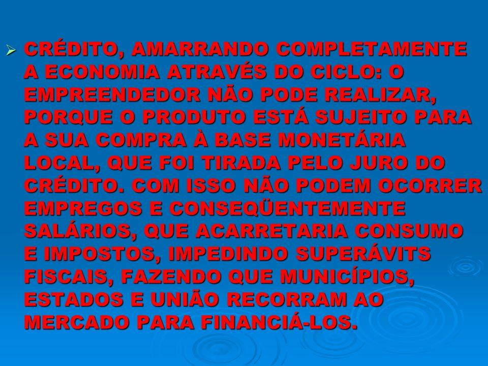 O PARÁGRAFO ANTERIOR MOSTRA O NÓ, QUE FOI DADO NA ECONOMIA BRASILEIRA PELO MERCADO, QUE PRODUZIU A QUEBRA DO EQUILÍBRIO NATURAL, DA PRODUÇÃO-CONSUMO, QUE ACARRETA INFLAÇÃO, QUE PARA SER CONTIDA PELO ESTADO BRASILEIRO, NECESSITA DE MAIS ELEVAÇÃO DE JURO, QUE ESTÁ PRODUZIDO A ECONOMIA E A SOCIEDADE AUTOFÁGICOS, OU SEJA, DESTRUINDO-SE A SI PRÓPRIOS, PORQUE O ESTADO PARA CONTER O SEU DÉFICIT CRÔNICO NECESSITA DE MAIS IMPOSTO E PARA FINANCIÁ-LO DE MAIS ELEVAÇÃO DE JUROS.