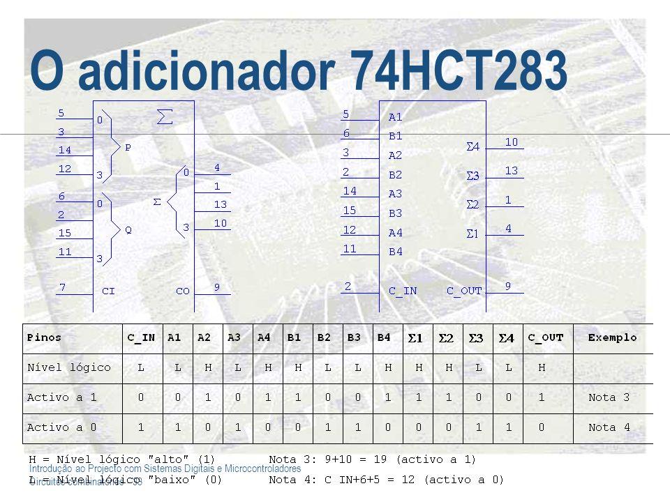 Introdução ao Projecto com Sistemas Digitais e Microcontroladores Circuitos combinatórios - 34 Unid.