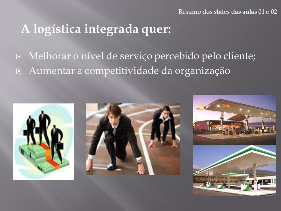A preocupação da logística integrada começa na fonte original do fornecimento e termina no ponto de consumo.