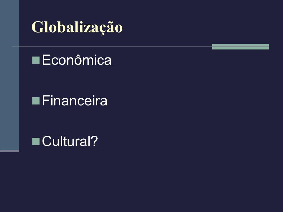 Globalização Econômica Aceleração da produção Renovação dos meios técnicos – transporte e meios de produção Produção flexível Marcas e produtos mundiais