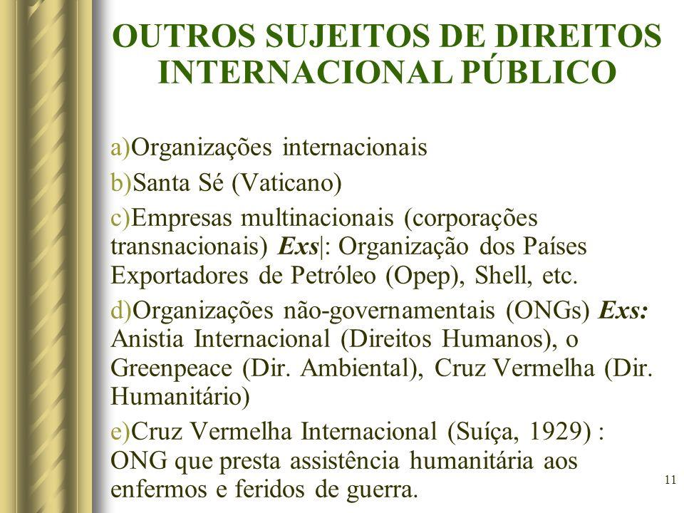 12 f) A pessoa humana sob os seguintes aspectos: f.1) A imputabilidade ao homem de fato ou atos ilícitos internacionais.