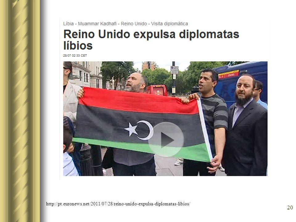 Rebeldes líbios instalam embaixadores em Londres e Paris 21 Além da vitória no terreno diplomático, oposição a Kadafi também conseguiu o controle de duas novas cidades http://exame.abril.com.br/economia/mundo/noticias/rebeldes-libios-instalam-embaixadores-em-londres-e-paris