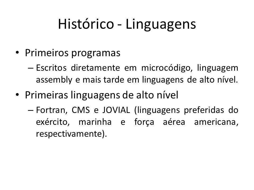 Histórico-Linguagens Em 1983 surge ADA – Encomendada pelo Departamento de Defesa Americano com o intuito de: Utilizar uma única linguagem para desenvolvimento de STR.
