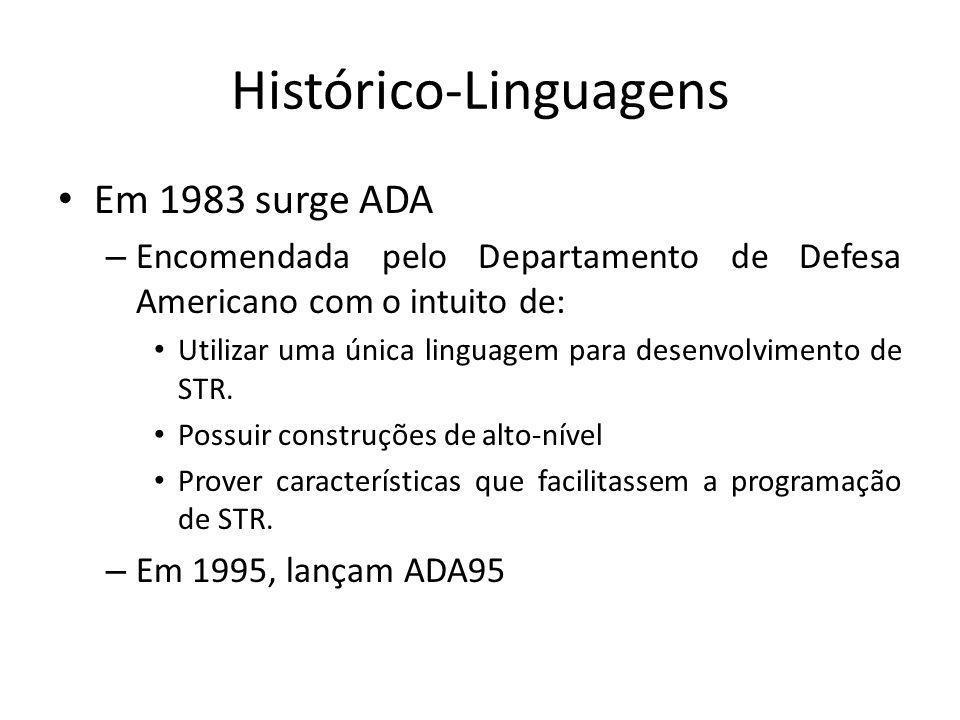 Histórico-Linguagens Atualmente, ADA não é uma linguagem muito aplicada em STR.