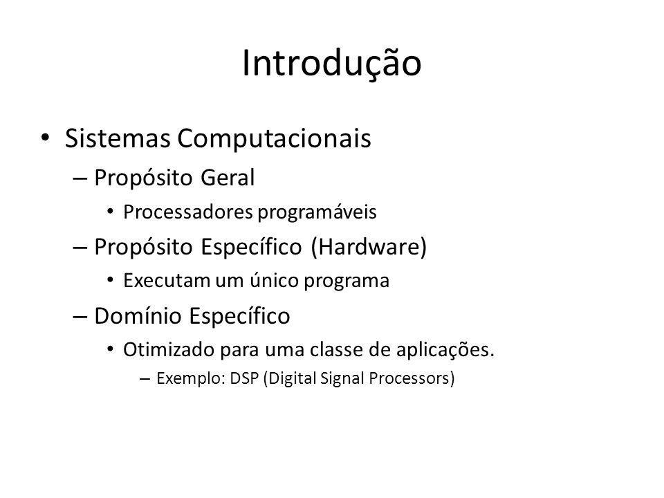 Introdução O Hardware de computadores de propósito geral resolve problemas pela execução repetitiva de macroinstruções, conhecidas, coletivamente como software.