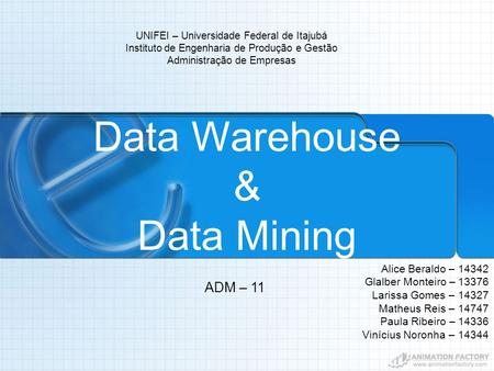Data Warehouse & Data Mining