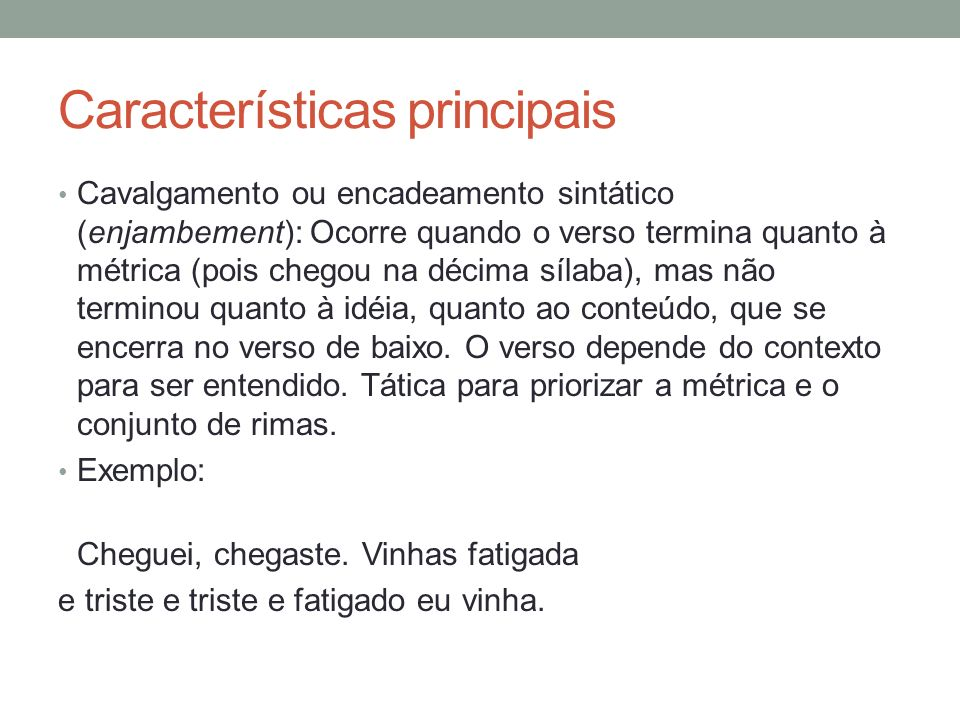 Poemas A um poeta, de Olavo Bilac.Longe do estéril turbilhão da rua, Beneditino escreve.