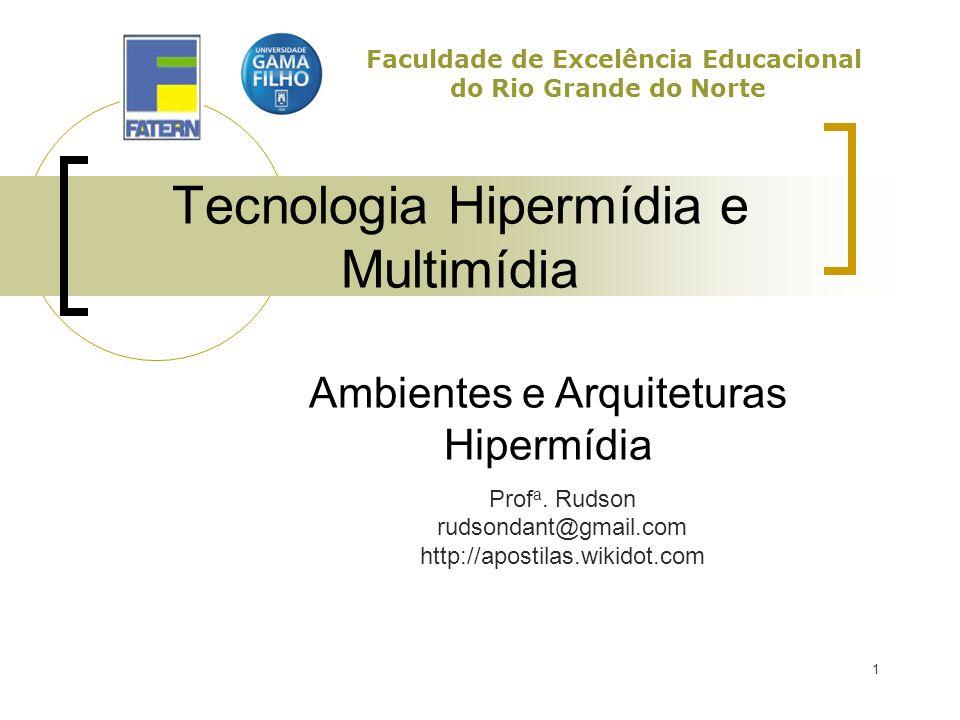 2 Ambientes e Arquiteturas Evolução das arquiteturas Memex HES (Hypertext Editing System) NLS KMS (Knowledge Management System) Xanadu SDE (Symbolics Document Examiner) Hypercard Mosaic