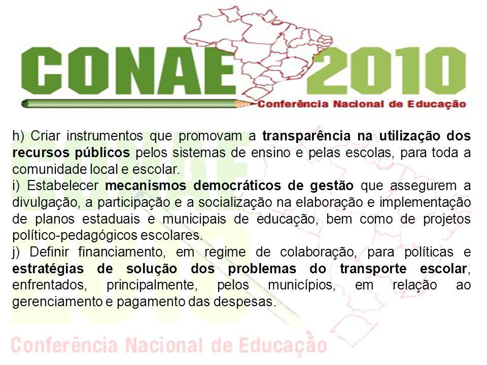 k) Orientar os conselhos municipais de educação para que se tornem órgãos normatizadores do ensino público municipal e das instituições privadas de educação infantil, no contexto do SNE.