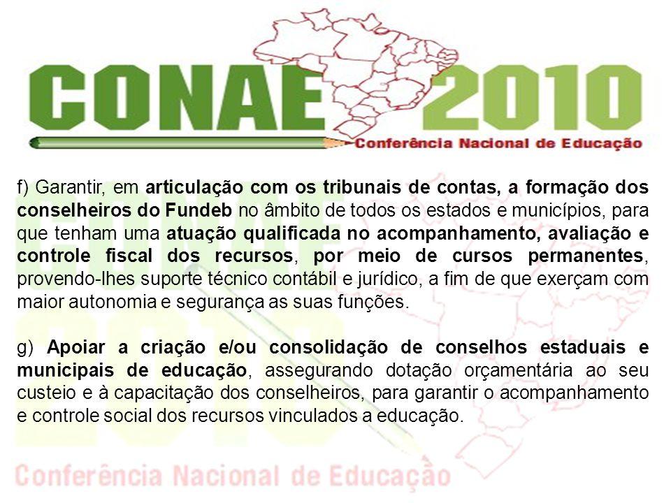 h) Ampliar e consolidar as políticas de financiamento e expansão da educação profissional, com ênfase no ensino médio integrado, na educação tecnológica, na formação de professores e no desenvolvimento da pesquisa e da inovação, considerando as necessidades produtivas, sociais e de inserção profissional.