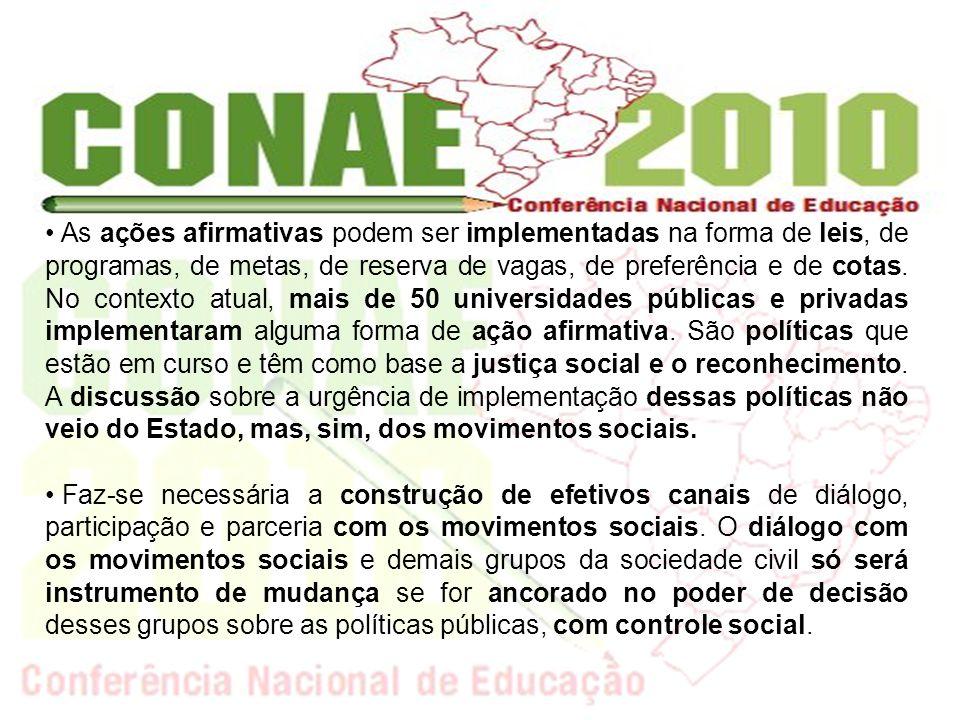 Os movimentos sociais, sobretudo os de caráter identitário denunciam o caráter de neutralidade ainda imperante nas políticas públicas.